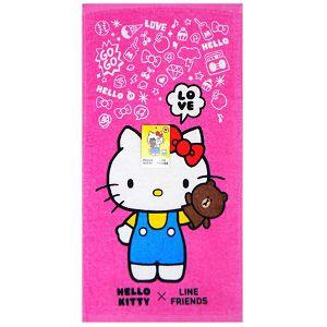 Hello Kitty x Line打招呼浴巾