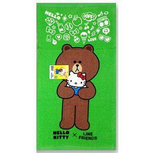 Hello Kitty x Line抱抱浴巾