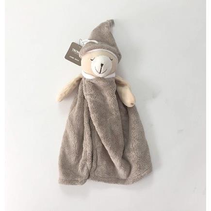 TROMSO品味生活超萌晚安熊柔軟毛擦手巾-晚安熊咖