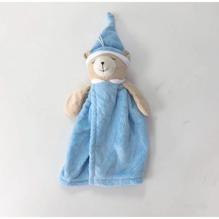 TROMSO品味生活超萌晚安熊柔軟毛擦手巾-晚安熊藍