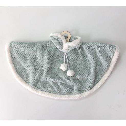 TROMSO品味生活毛球小斗篷衣架軟毛擦手巾-斗篷綠