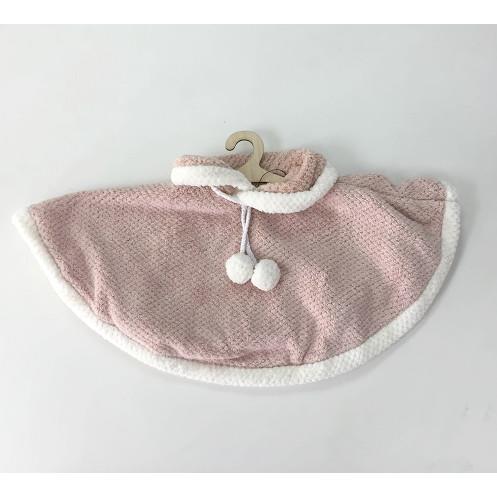 TROMSO品味生活毛球小斗篷衣架軟毛擦手巾-斗篷粉