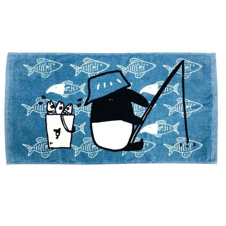 馬來貘釣魚毛巾