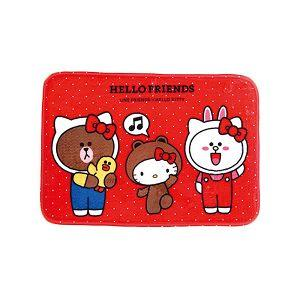 Hello Kitty x Line我的好朋友地墊(紅)