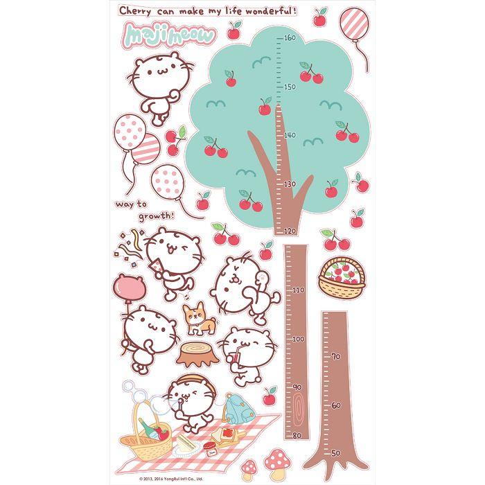麻吉貓身高壁貼-大樹一樣高 55*100cm