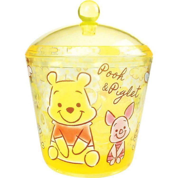 圓形收納罐-小熊維尼/坐著/毛絨風