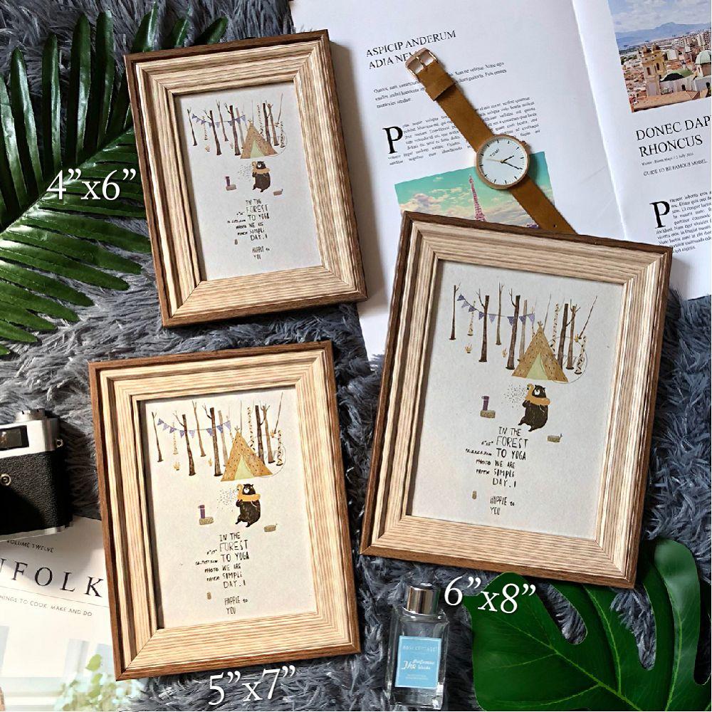 TROMSO品味時代貝爾木紋雙色5X7相框-咖木紋