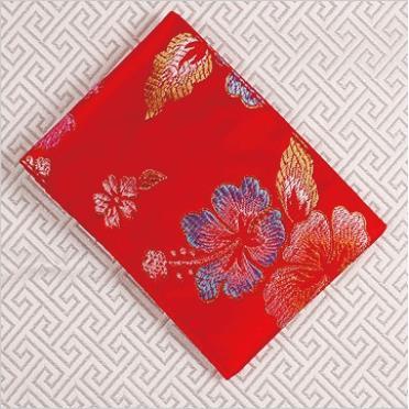 扶桑花布袋紅包袋(小)
