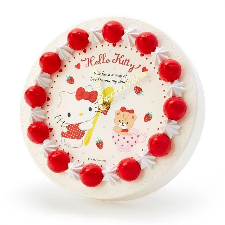 蛋糕型壁鐘-Kitty