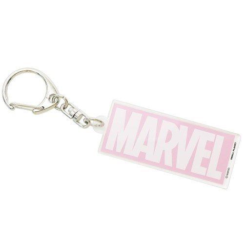 鑰匙圈-Marvel Logo/粉