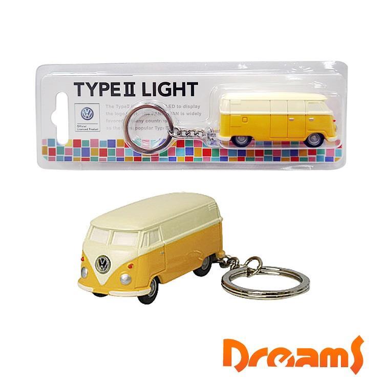 Dreams 福斯 T4 麵包車 LED 燈鑰匙圈 黃