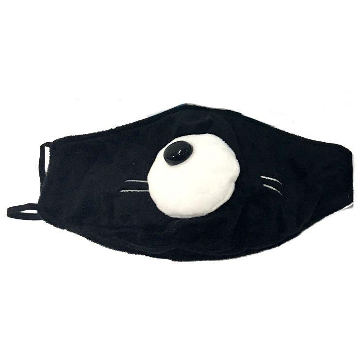 大鼻子貓口罩/黑色