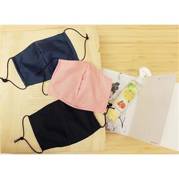 夾心餅乾-掛耳繩防護口罩套(可添加濾棉片/醫療口罩)-台灣製-黑