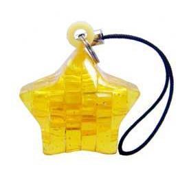 3D立體水晶拼圖-迷你吊飾-黃星星