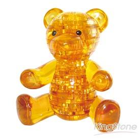 3D立體水晶拼圖-甜蜜小熊(棕)