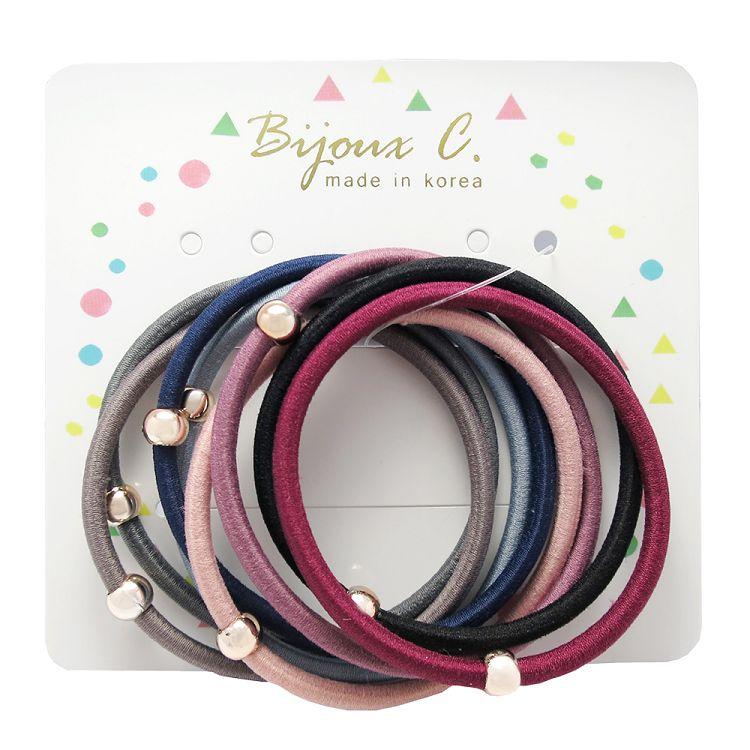 Bijoux C.韓製多色髮圈8入
