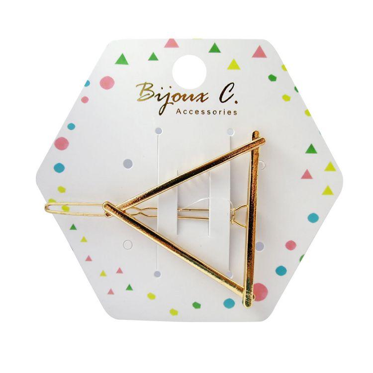 Bijoux C.三角形金屬髮夾1入