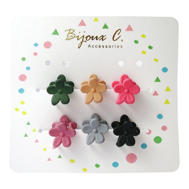 Bijoux C.花花造型小抓夾(B)6入