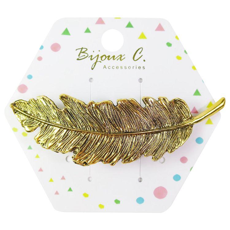 Bijoux C.葉子金屬彈簧髮夾