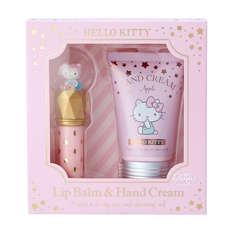 護唇膏&護手霜組 Hello Kitty