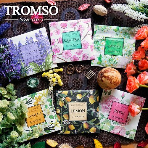 TROMSOX魅力法國-浪漫花香掛勾大香氛包-梔子花