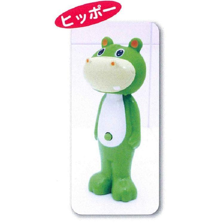 日本U-company兒童牙刷-綠河馬
