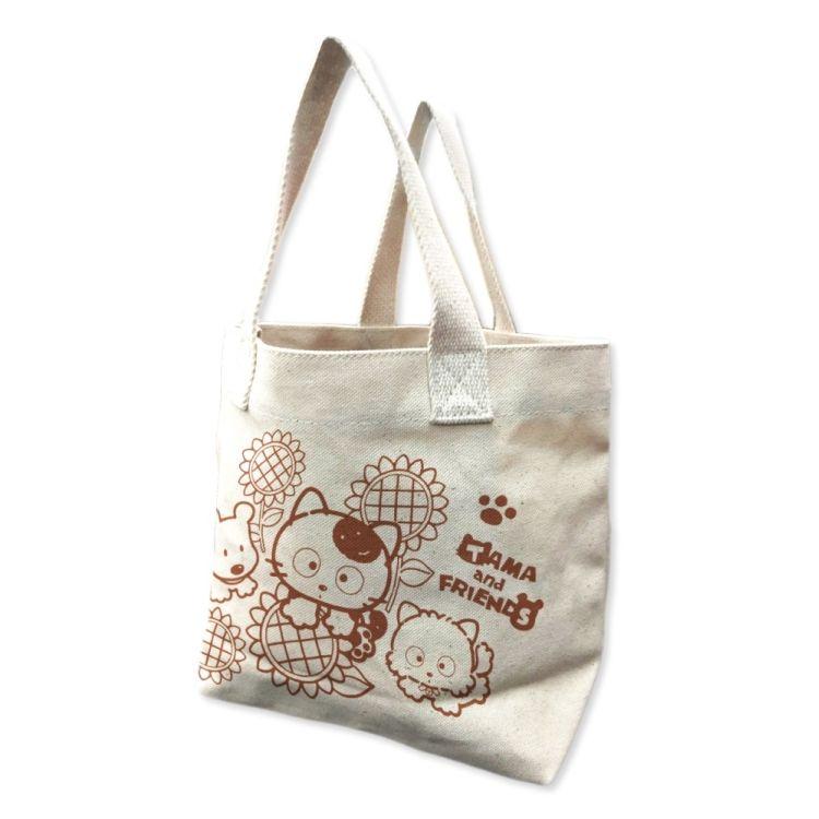 Tama & Friends帆布小提袋-Tama與向日葵
