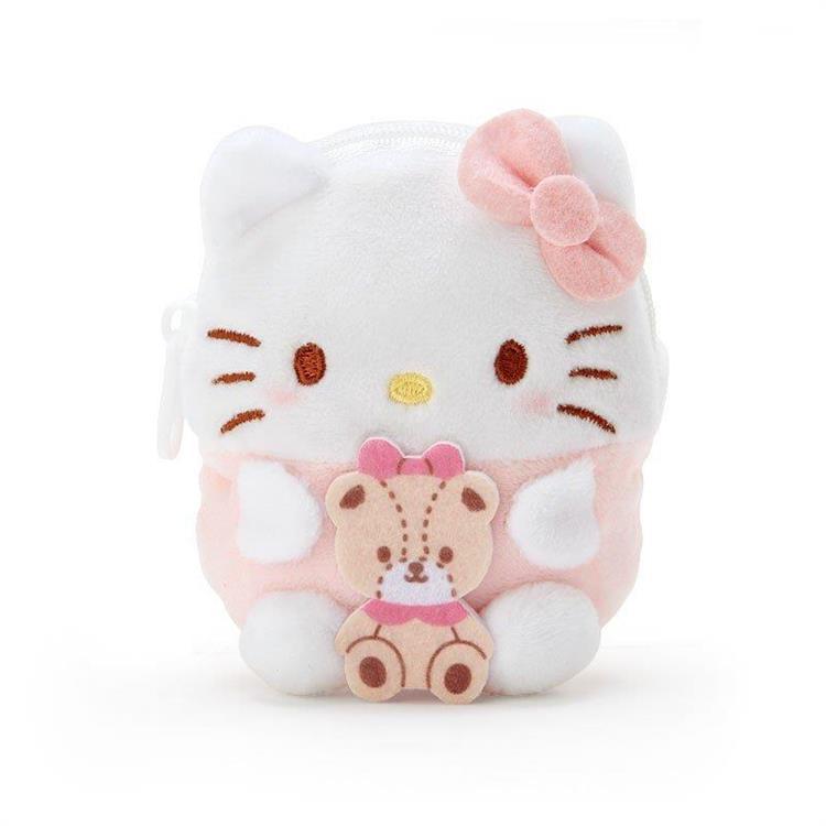 造型絨毛零錢包-Kitty