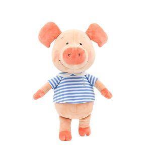 30cm藍水手服小豬威比坐姿玩偶