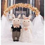 Metoo38cm提拉米兔男女婚紗組-經典浪漫