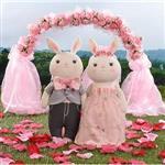 Metoo38cm提拉米兔男女婚紗組-粉紅愛戀