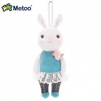 Metoo 20cm提拉米兔雅風版吊飾-藍蕾絲裙