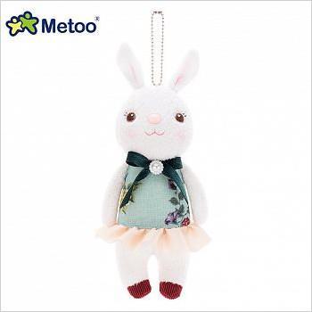 Metoo 20cm提拉米兔雅風版吊飾-藍色碎花裙
