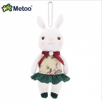 Metoo 20cm提拉米兔雅風版吊飾-米色碎花裙