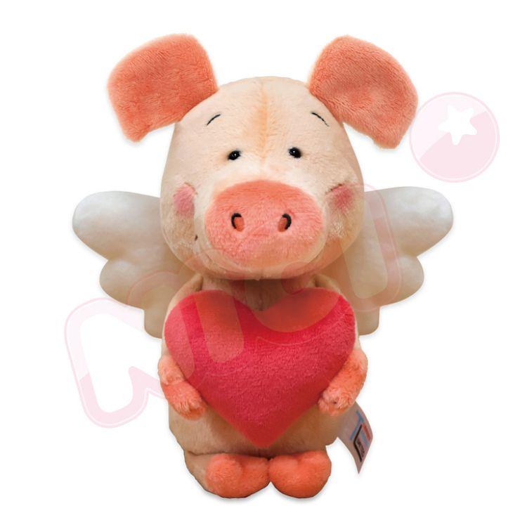 NICI  20cm天使小豬威比坐姿玩偶
