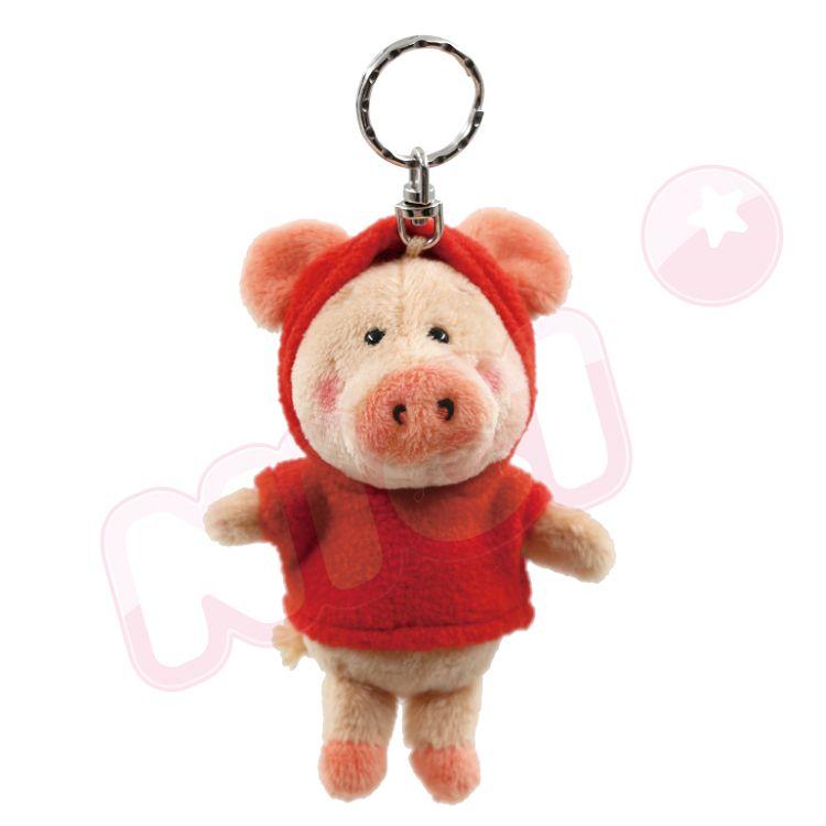 NICI  紅帽T小豬威比鑰匙圈