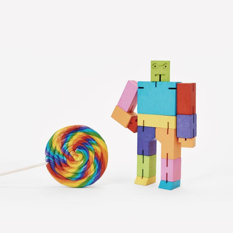 【Areaware】積木變形機器人(中)-彩色