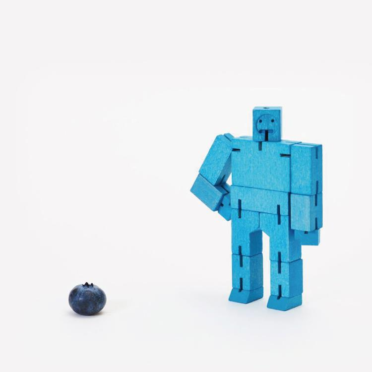 【Areaware】積木變形機器人(小)-藍
