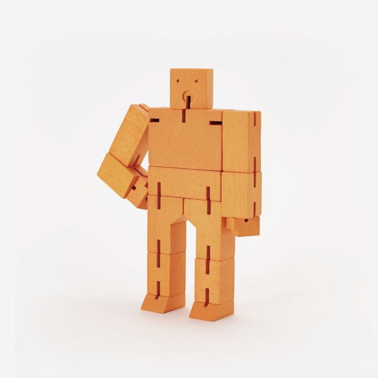 【Areaware】積木變形機器人(小)-橘