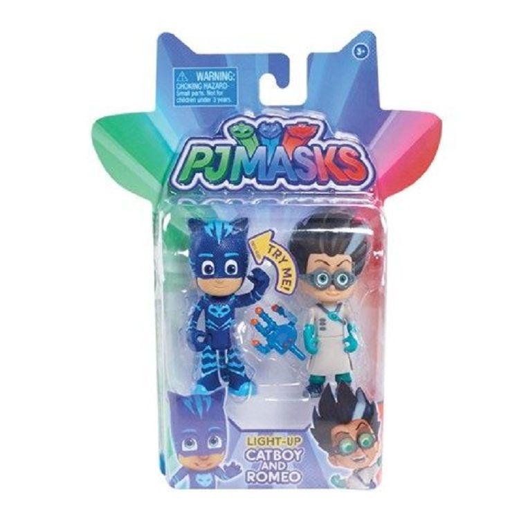 PJMASKS 3吋可動英雄與叛逆角色人偶二合一組-貓小子 vs. 羅米歐TV