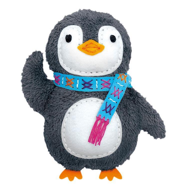AVENIR Kids / 手縫可愛布偶系列-紙筒-企鵝