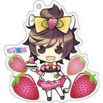 12生肖獸娘 X 台灣水果- 牛【草莓】壓克力鑰匙圈
