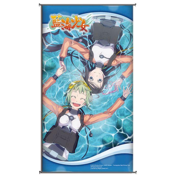 藍海少女-小掛軸-漂流少女