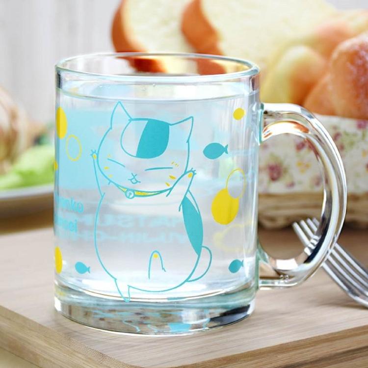 夏目友人帳-玻璃杯(透明)D款(貓)