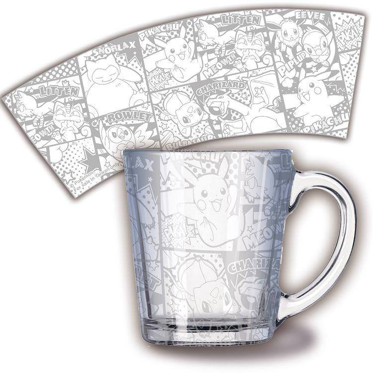 精靈寶可夢-透明玻璃杯-銀色漫畫