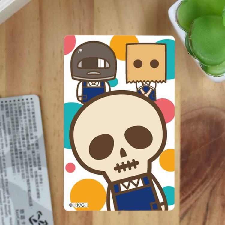 骷髏店員本田-卡片貼紙A款(本田)