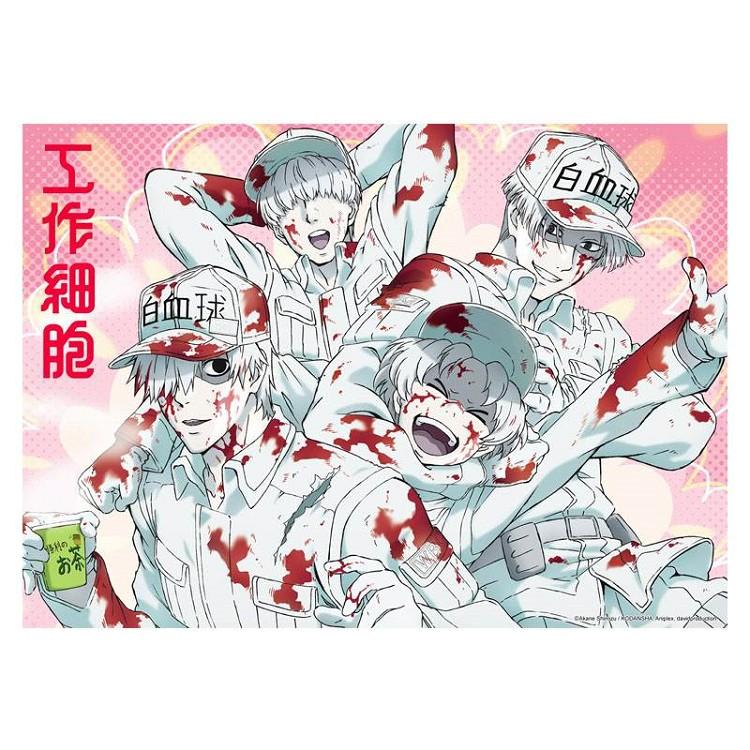 工作細胞-塑膠海報A款(白血球)
