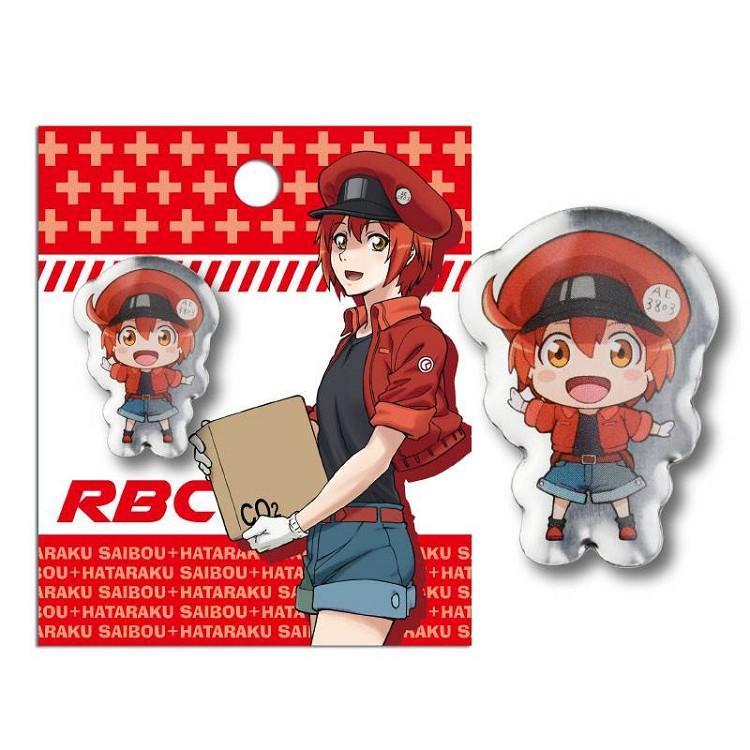 工作細胞-徽章(金屬角色)A款(紅血球)