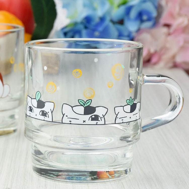 夏目友人帳-疊疊杯(玻璃)劇場版B款(三隻小貓)