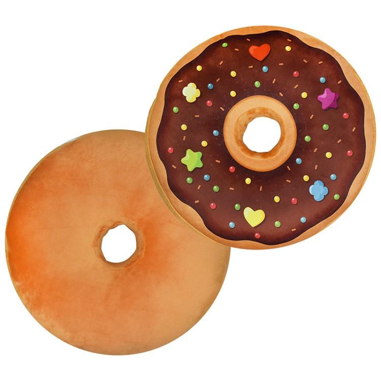 抱枕(甜甜圈造型)-木棉花自製A款
